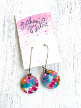 Load image into Gallery viewer, Colorful, Hand Painted Earrings 50 - Bethany Joy Art