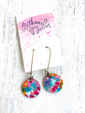 Colorful, Hand Painted Earrings 50 - Bethany Joy Art