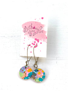 Colorful, Hand Painted Earrings 148