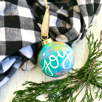 Hand Painted Ceramic Round Ornament