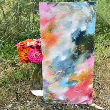 "Load image into Gallery viewer, Abstract Original Painting ""Love You Most"" 8x16 inch Canvas Panel - Bethany Joy Art"