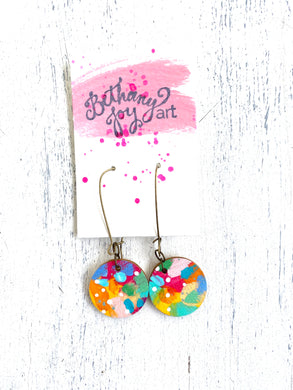 Colorful, Hand Painted Earrings 33 - Bethany Joy Art