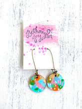 Load image into Gallery viewer, Colorful, Hand Painted Earrings 35 - Bethany Joy Art