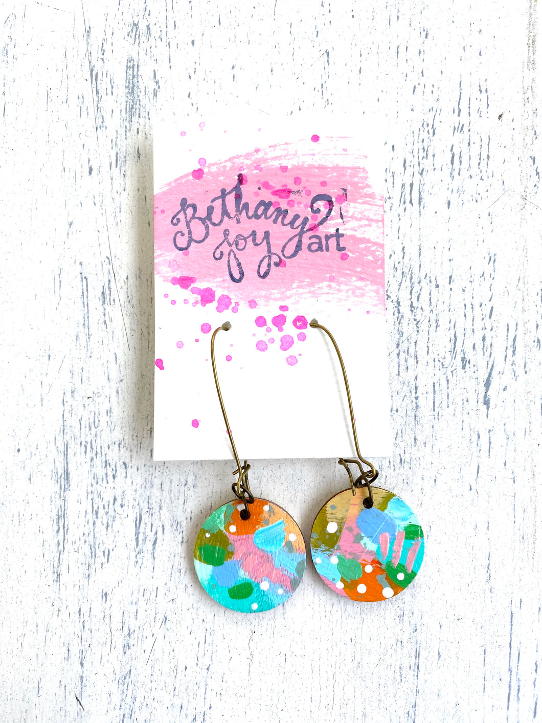 Colorful, Hand Painted Earrings 35 - Bethany Joy Art