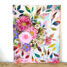 "Load image into Gallery viewer, ""All the Joy and All the Flowers"" Floral Original Painting on 30x24 inch canvas - Bethany Joy Art"