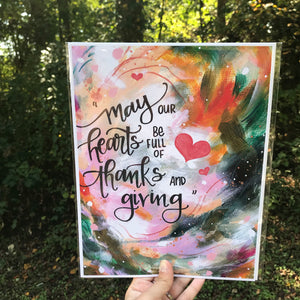 """Full Hearts"" Inspirational 8.5x11 inch Art Print - Bethany Joy Art"