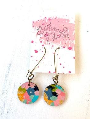 Colorful, Hand Painted Earrings 117