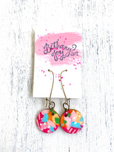 Load image into Gallery viewer, Colorful, Hand Painted Earrings 29 - Bethany Joy Art