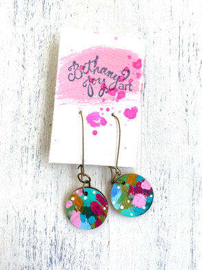 Colorful, Hand Painted Earrings 53 - Bethany Joy Art