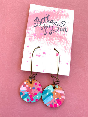 Colorful, Hand Painted Earrings 22 - Bethany Joy Art