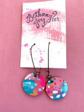 Load image into Gallery viewer, Colorful, Hand Painted Earrings 7 - Bethany Joy Art