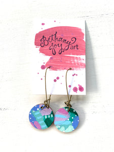 Colorful, Hand Painted Earrings 77