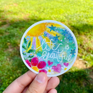 Life is Beautiful - June Sticker of the Month