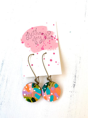 Colorful, Hand Painted Earrings 114