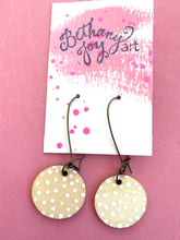 Load image into Gallery viewer, Colorful, Hand Painted Earrings 18 - Bethany Joy Art