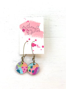 Colorful, Hand Painted Earrings 142