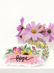 Hope Banner Vinyl Sticker - October Sticker of the Month