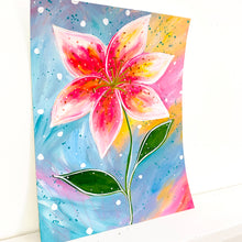 Load image into Gallery viewer, February Flowers Day 21 Lily 8.5x11 inch original painting