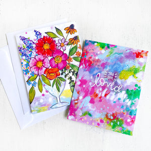 Cheerful Everyday Greeting Cards with Envelopes (Pack of 2) - Bethany Joy Art
