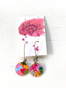 Colorful, Hand Painted Earrings 69