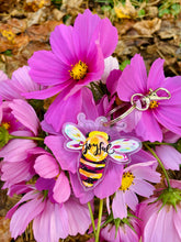 Load image into Gallery viewer, Bee Joyful Acrylic Keychain