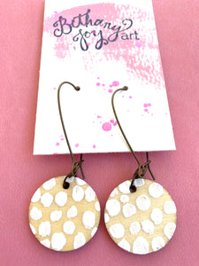 Colorful, Hand Painted Earrings 1 - Bethany Joy Art