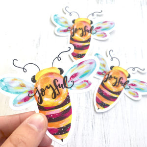 Bee Joyful Vinyl Sticker - Bethany Joy Art
