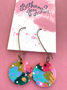 Colorful, Hand Painted Earrings 5 - Bethany Joy Art
