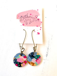 Colorful, Hand Painted Earrings 129