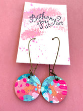 Load image into Gallery viewer, Colorful, Hand Painted Earrings 4 - Bethany Joy Art