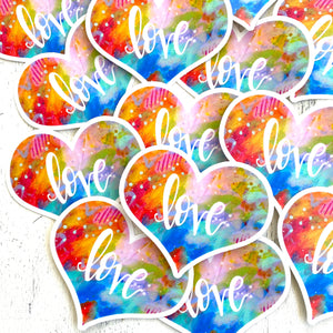 Love Vinyl Heart Sticker - February Sticker of the Month - Bethany Joy Art