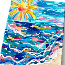 "Load image into Gallery viewer, ""Beach Days and Sun Rays"" 8x10 inch original painting on canvas"