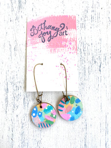 Colorful, Hand Painted Earrings 55 - Bethany Joy Art