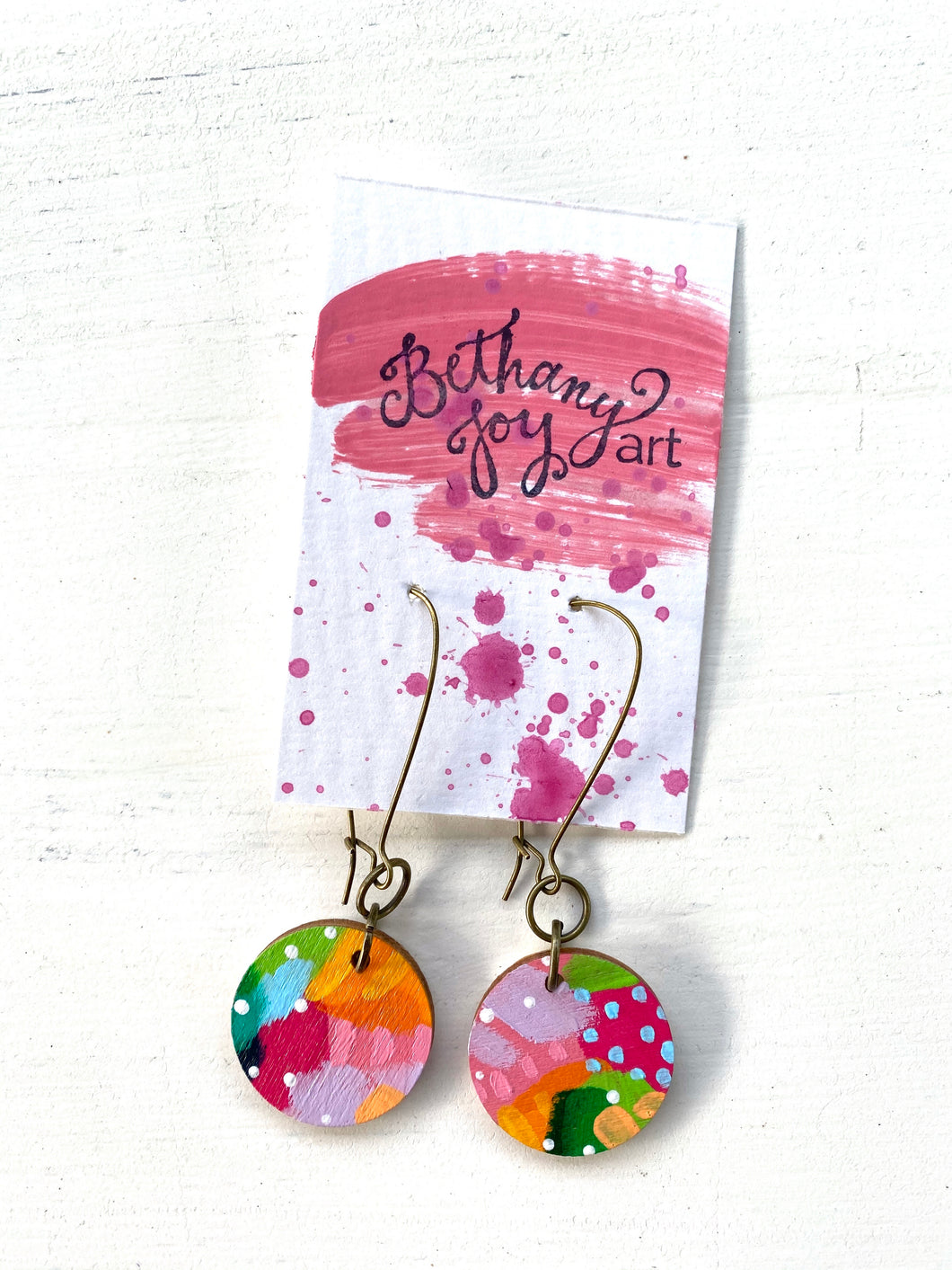 Colorful, Hand Painted Earrings 60