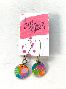 Colorful, Hand Painted Earrings 71