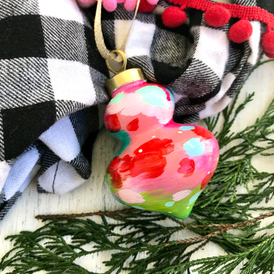 Multi-colored Hand-painted Ceramic Christmas Ornament #2