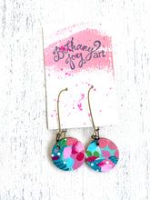 Load image into Gallery viewer, Colorful, Hand Painted Earrings 48 - Bethany Joy Art