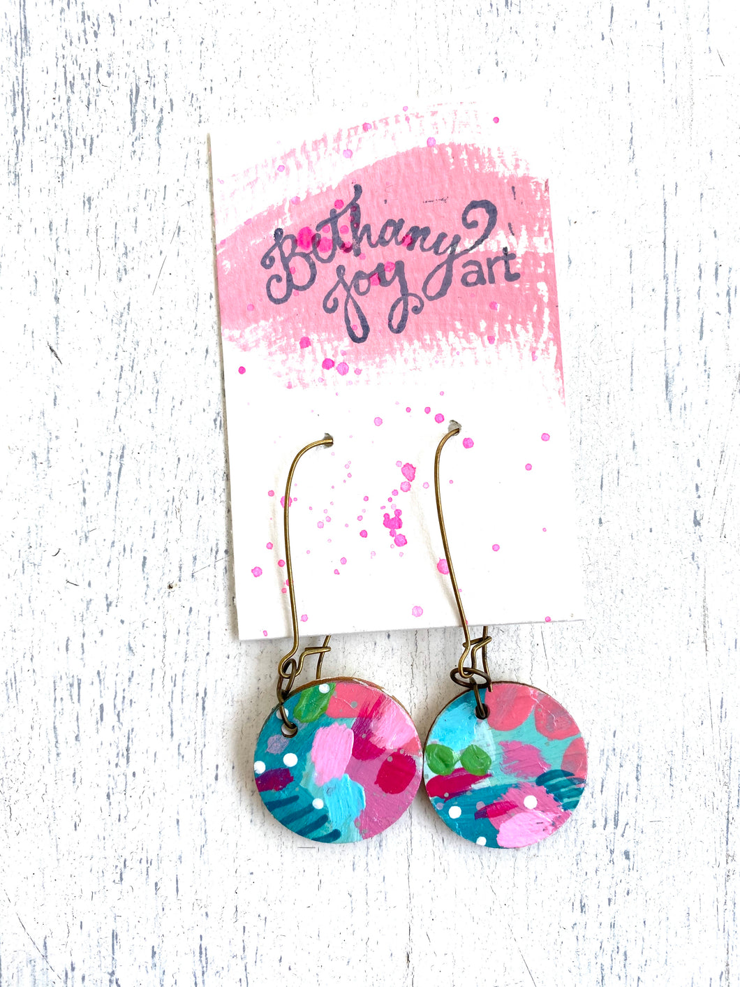 Colorful, Hand Painted Earrings 48 - Bethany Joy Art