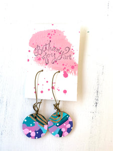 Colorful, Hand Painted Earrings 98