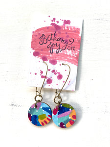 Colorful, Hand Painted Earrings 80