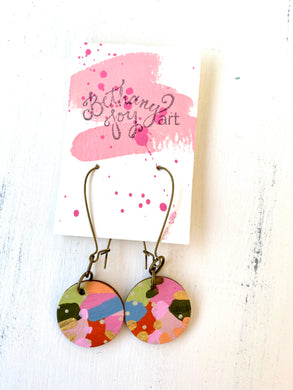 Colorful, Hand Painted Earrings 108