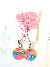 Load image into Gallery viewer, Colorful, Hand Painted Earrings 119