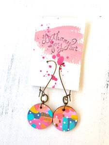 Colorful, Hand Painted Earrings 119