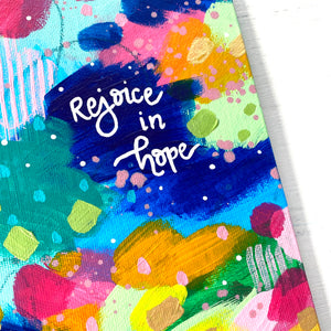 "August 2020 Daily Painting Day 25 ""Rejoice in Hope"" 5x7 inch original"
