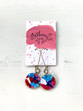 Load image into Gallery viewer, Colorful, Hand Painted Earrings 89