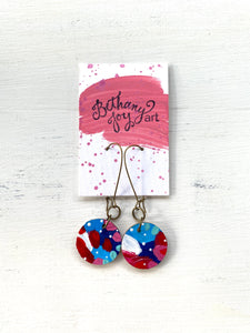 Colorful, Hand Painted Earrings 89