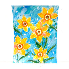 Load image into Gallery viewer, February Flowers Day 11 Daffodil 8.5x11 inch original painting