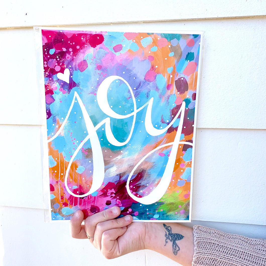 Joy 8.5x11 inch art print / Colorful Home Decor / Gift for her - Bethany Joy Art