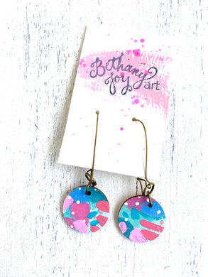Colorful, Hand Painted Earrings 36 - Bethany Joy Art