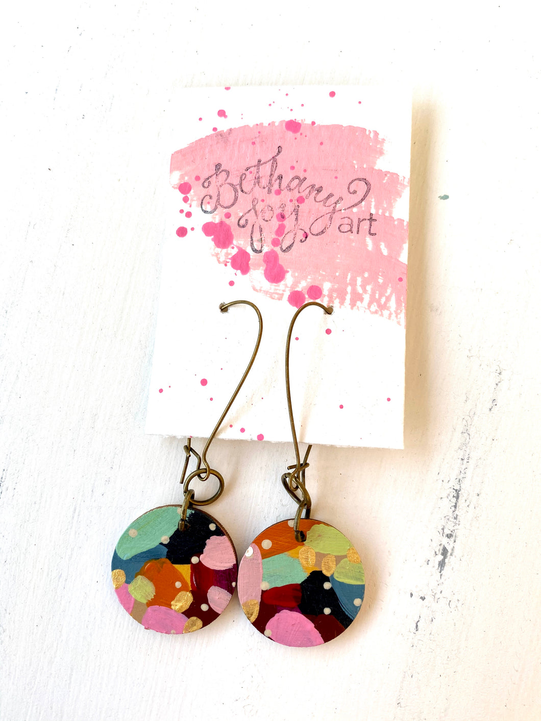 Colorful, Hand Painted Earrings 138